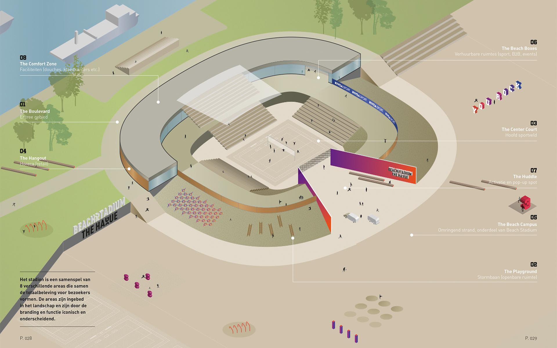 Beach Stadium Den Haag map DAY Creative Strategic Consultancy Experience Concepts Brand Design