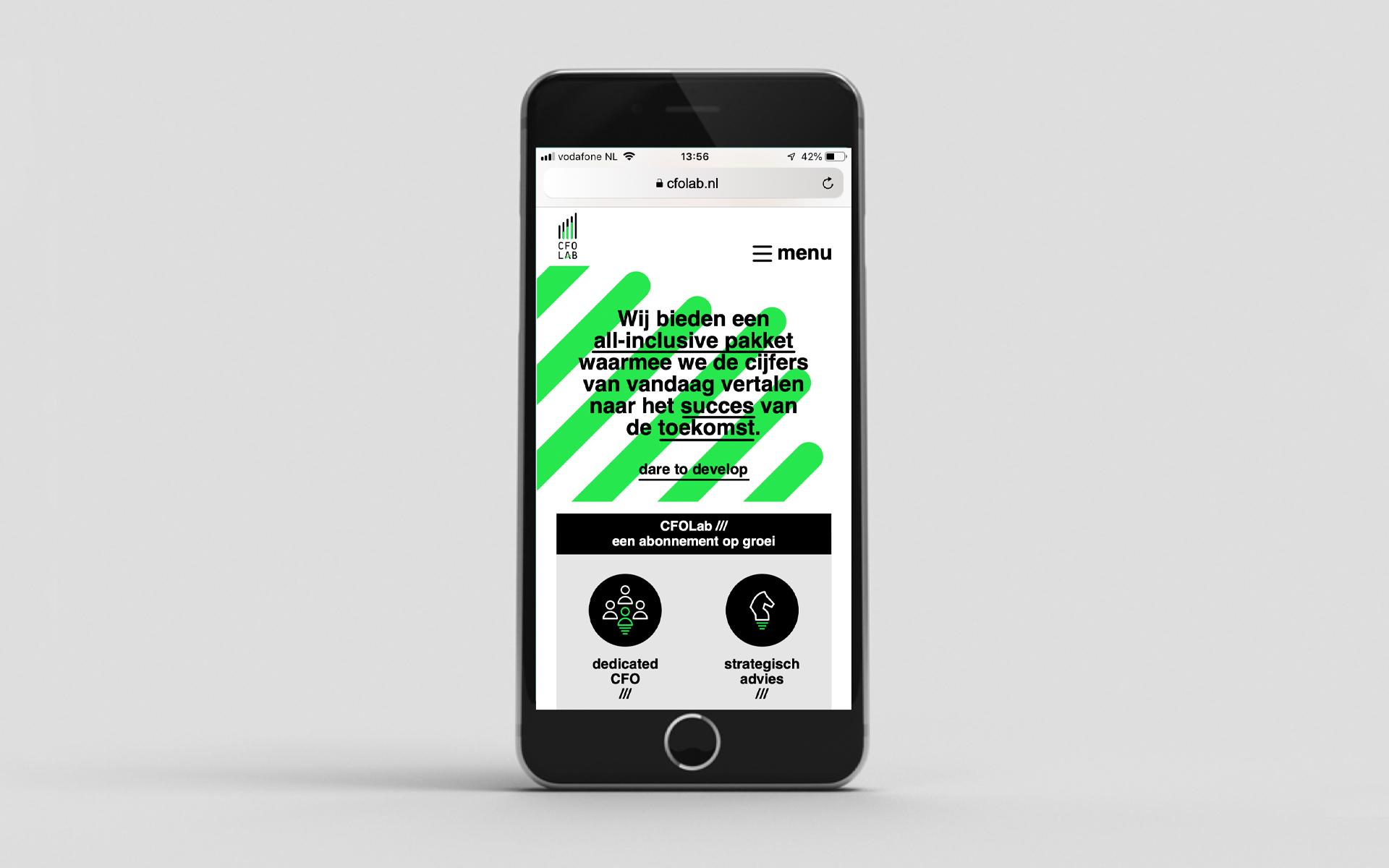 CFO lab Strategic Consultancy Brand Design DAY Creative mobile