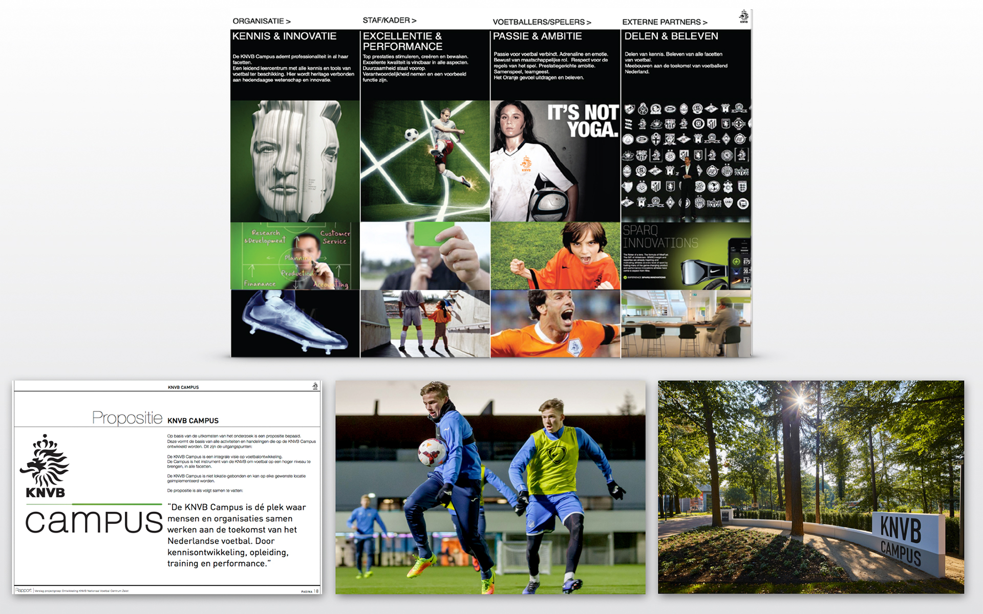 KNVB Campus Zeist DAY Creative mood presentation Vision on brand and experience
