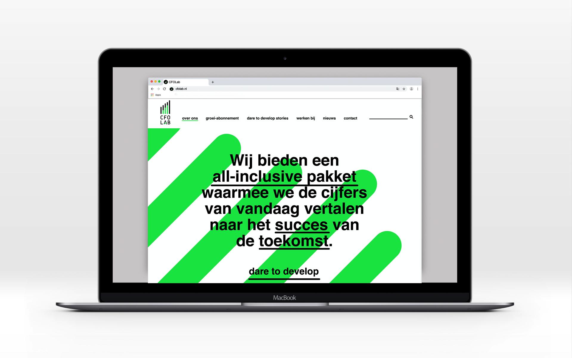 CFO lab Strategic Consultancy Brand Design DAY Creative identity design laptop desktop
