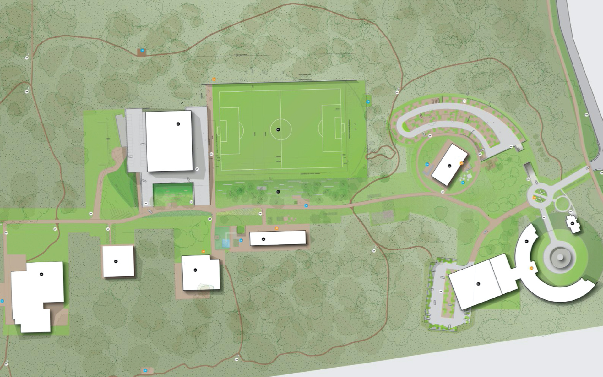 KNVB Campus Zeist DAY Creative map Vision on brand and experience
