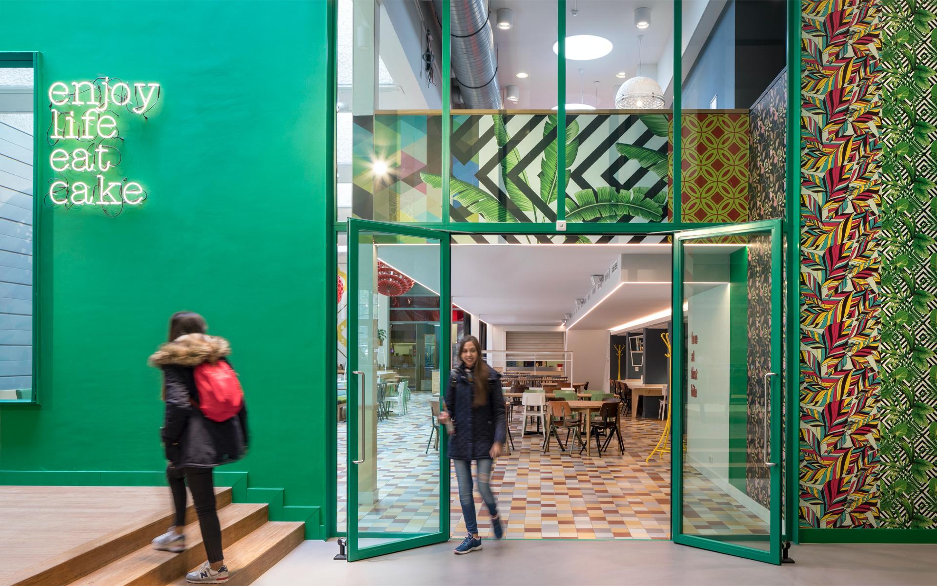 Stayokay Oost hostel Spatial & Interior Design building Amsterdam restaurant