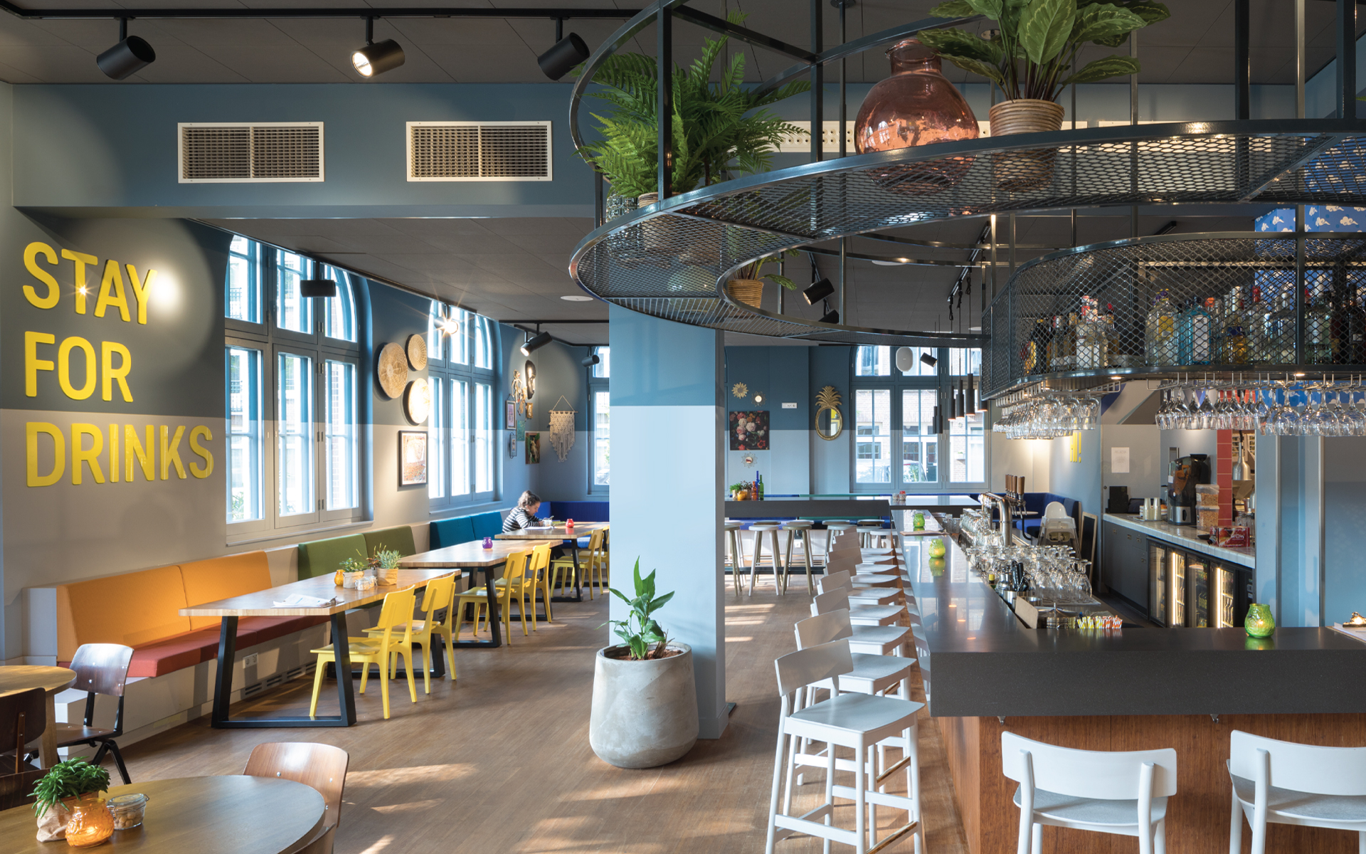 Stayokay Oost hostel Experience Concept Spatial & Interior Design bar Amsterdam