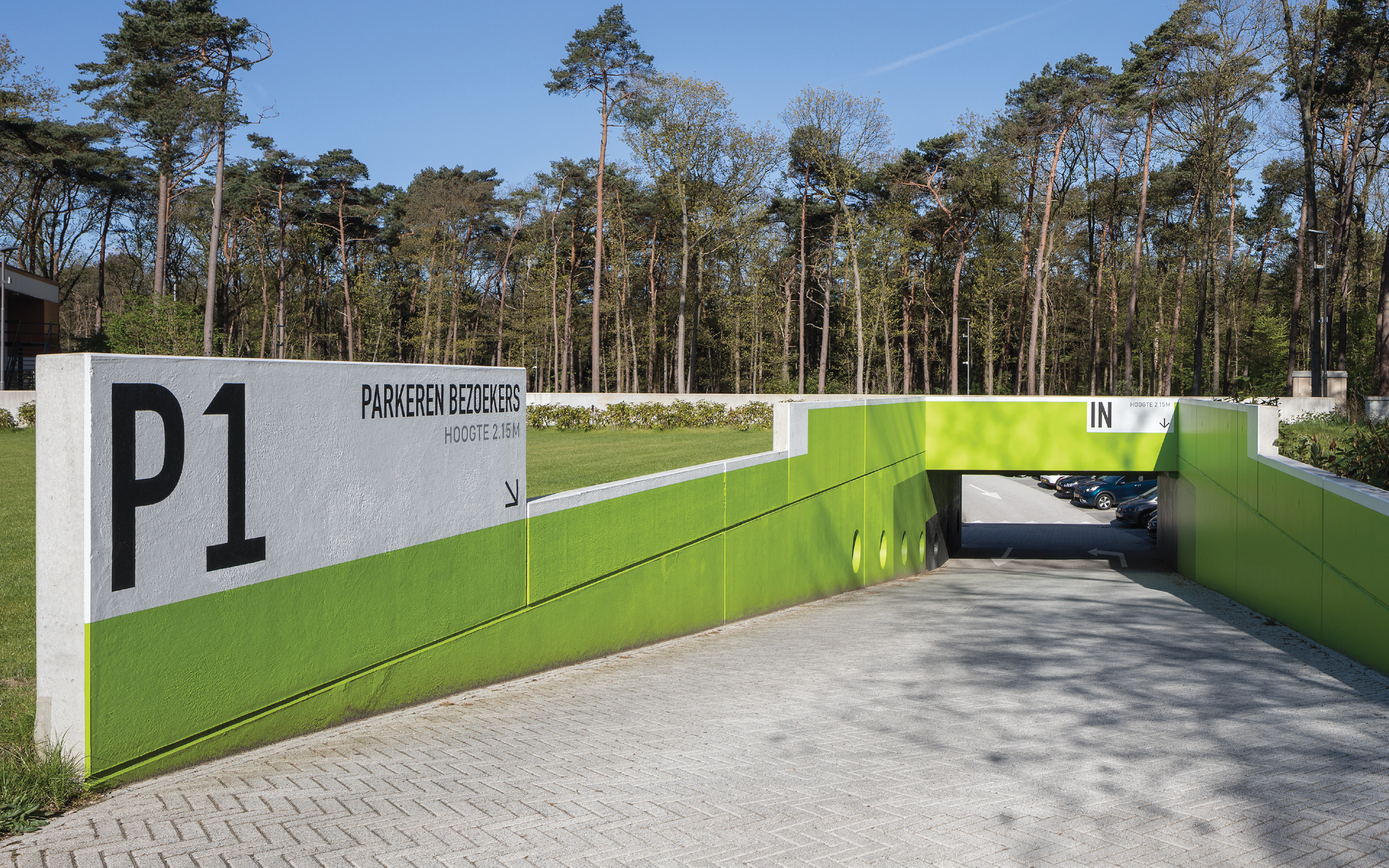 KNVB Campus Zeist DAY Creative parking entree Vision on brand and experience