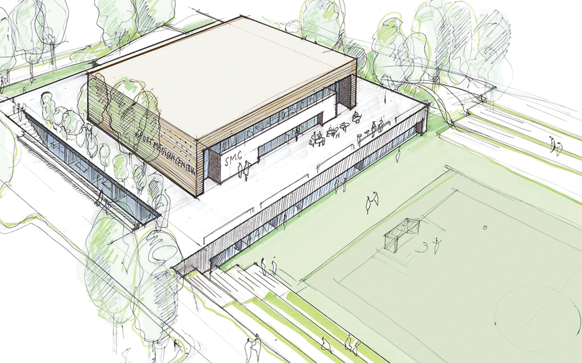 KNVB Campus Zeist DAY Creative Sketch Vision on brand and experience