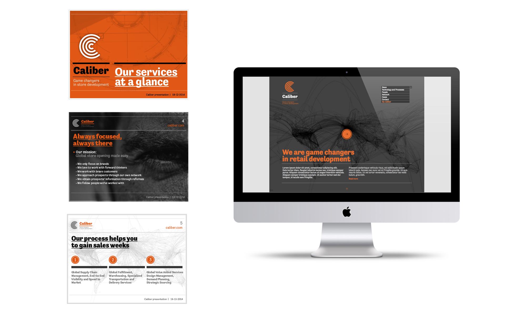 Caliber global logistics identity DAY Creative Strategic Consultancy Brand Design