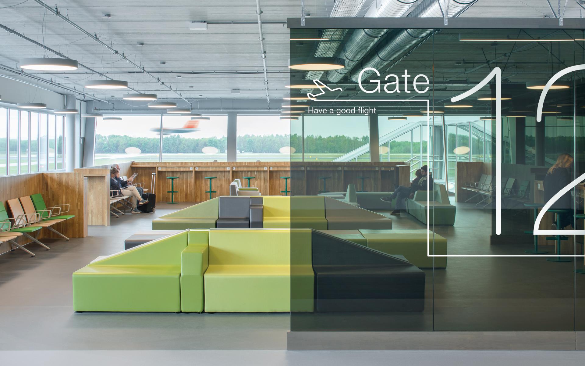 DAY Creative Eindhoven Airport gates branding