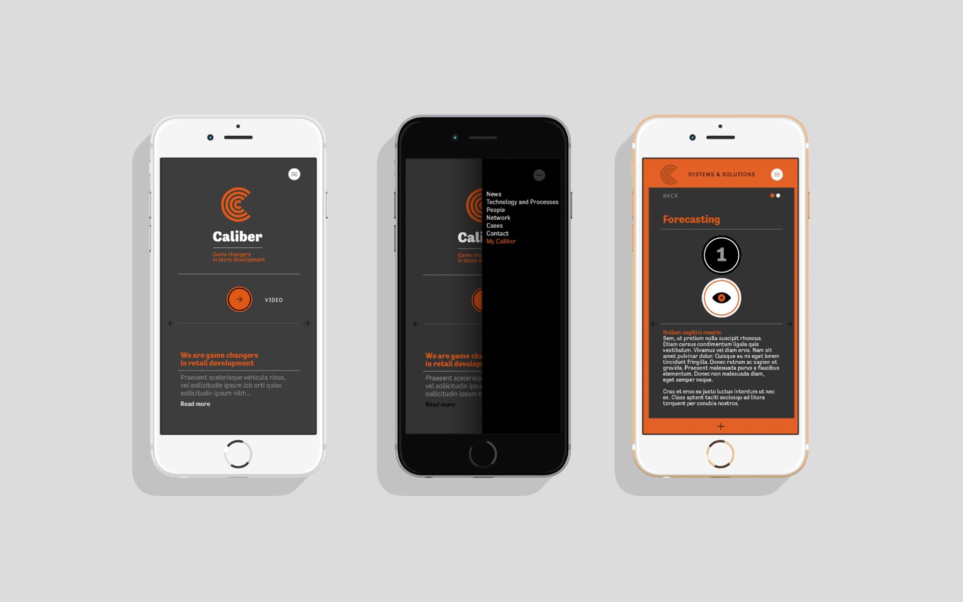 Caliber global logistics mobile identity DAY Creative Strategic Consultancy Brand Design
