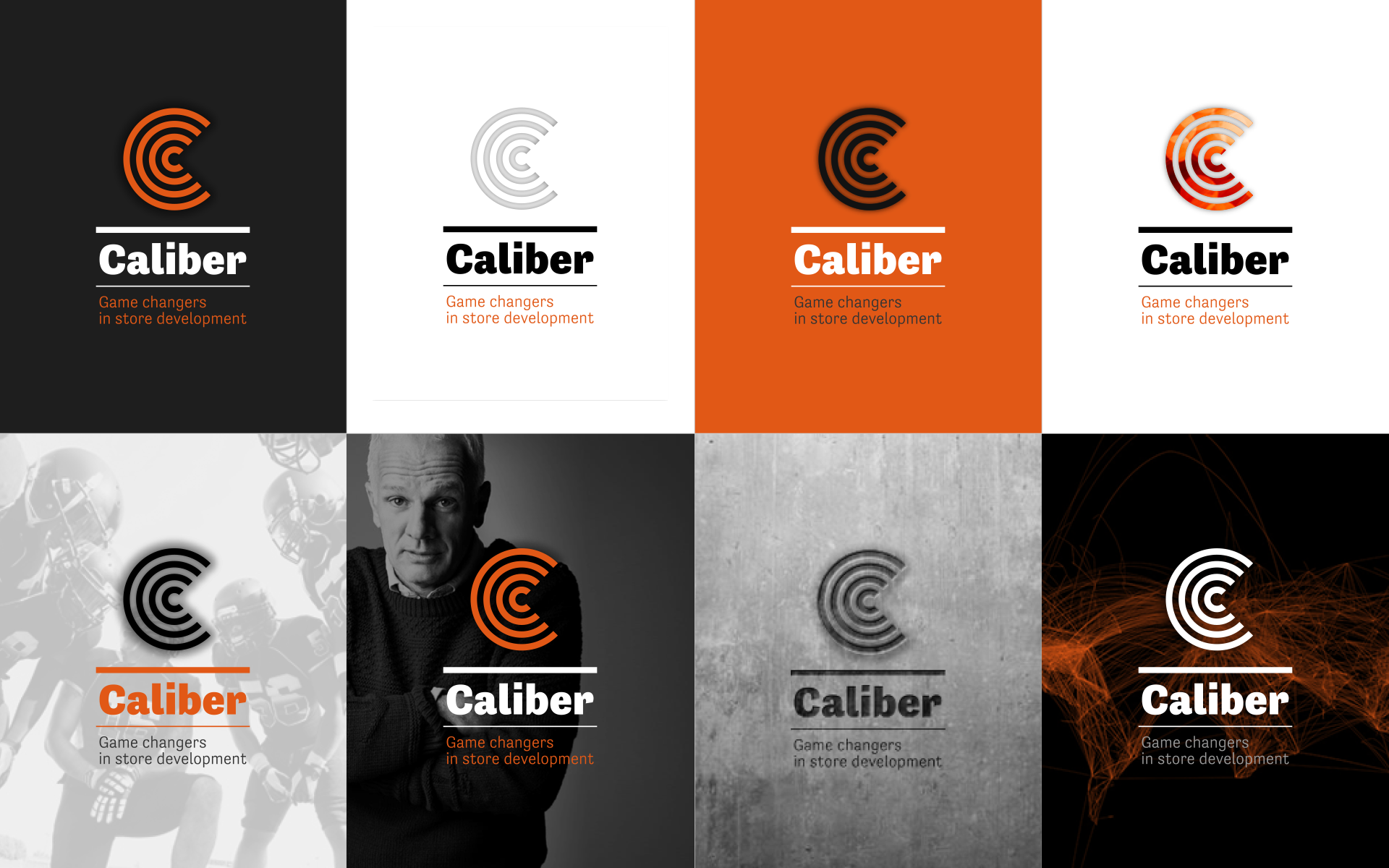 Caliber global logistics identity logo DAY Creative Strategic Consultancy Brand Design