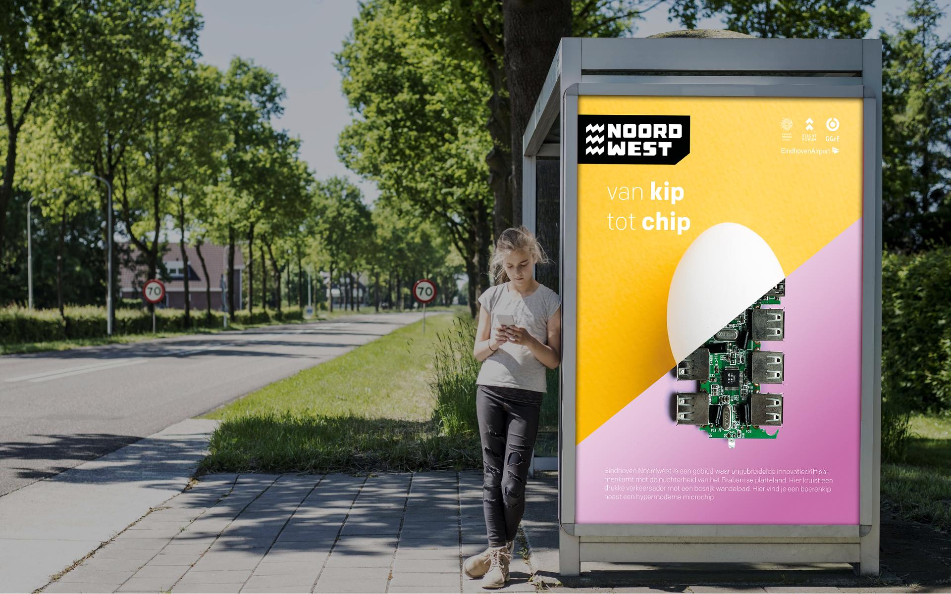 EHNW Eindhoven Noord West gemeente municipality brand design by DAY Creative visual identity bus hokje