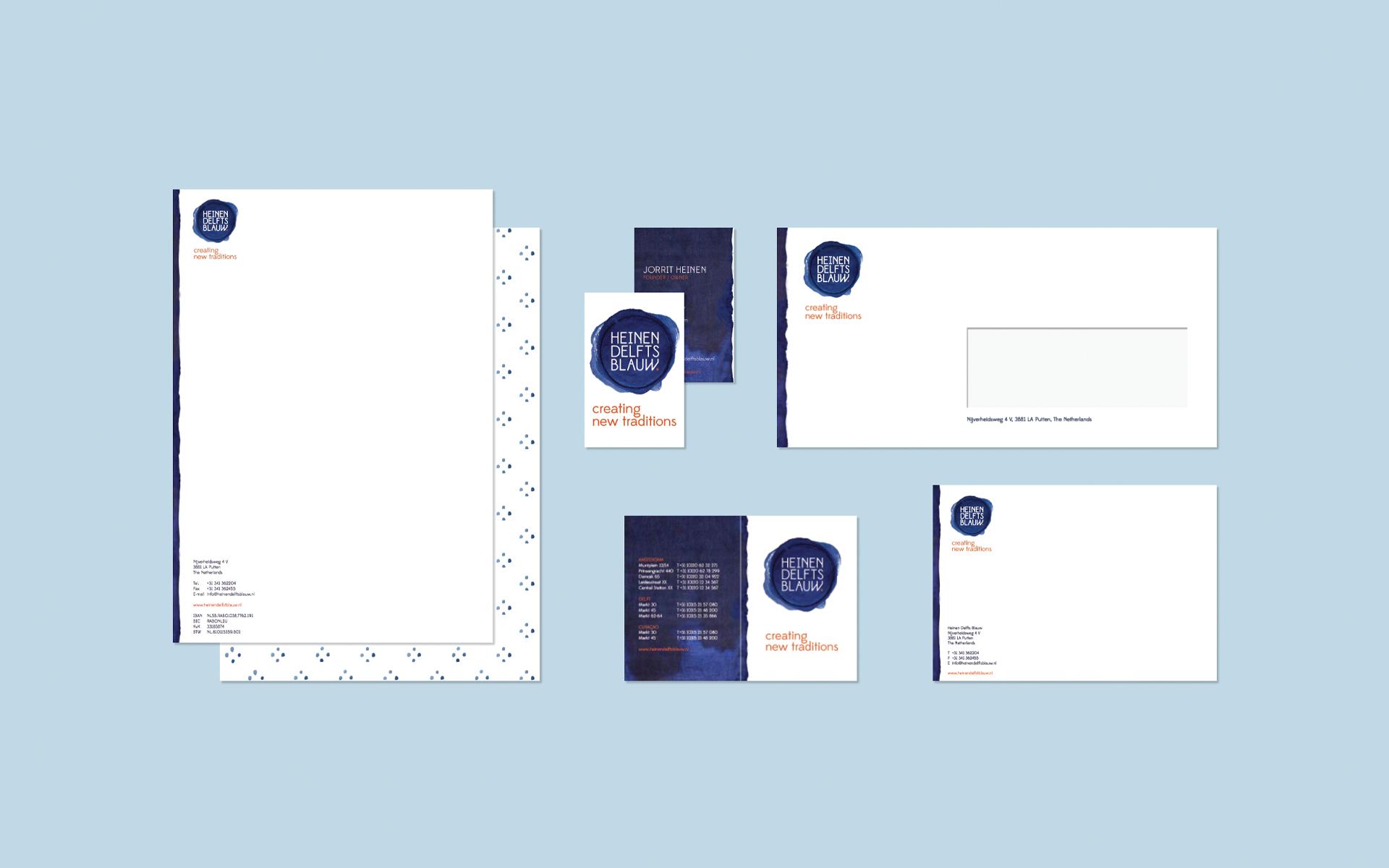 Heinen Delfts Blauw DAY Creative Brand Design Creating new traditions letterhead