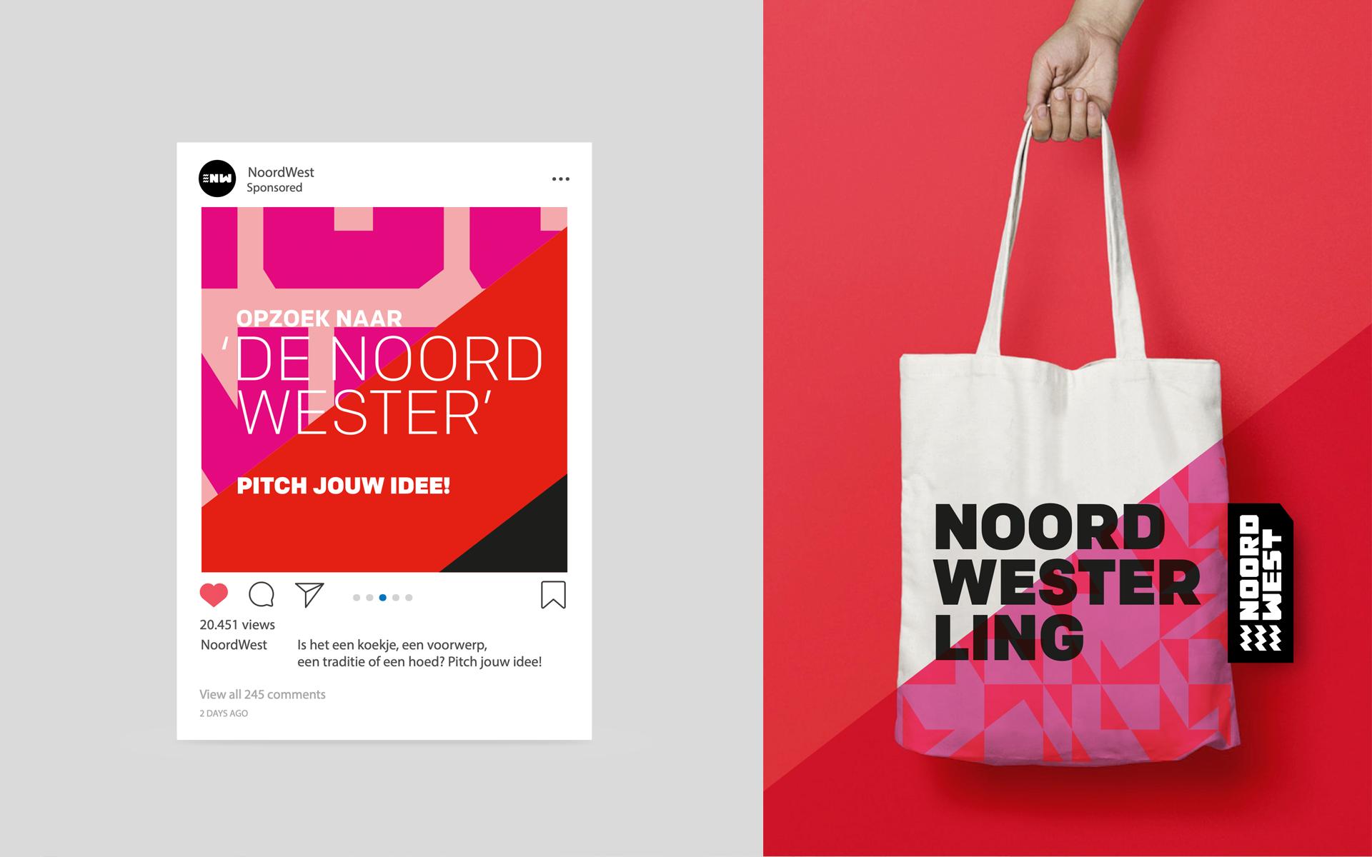 EHNW Eindhoven Noord West gemeente municipality brand design by DAY Creative visual identity merchandise
