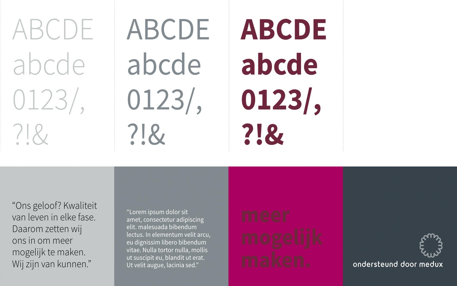 Medux font colours DAY Creative Strategic Consultancy / Brand Design