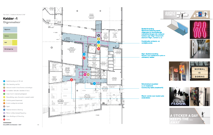 Spatial and Interior Design DAY Creative map