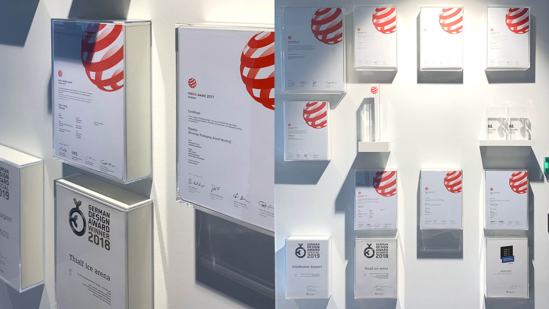 Awards DAY CREATIVE Red dot award Eindhoven Airport